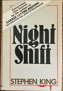 Stephen King Night Shift Doubleday Hardcover with DJ, Book club edition 1978