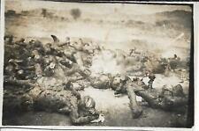 WW2 FOTO AFRICA AOI CORPI ABISSINI CARBONIZZATI