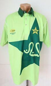 PAKISTAN CRICKET WORLD CUP 1999 SHIRT JERSEY TOP REPLICA GREEN KOHINOOR MEN'S L