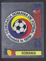 Panini - USA 94 World Cup - # 77 Romania Foil Badge (Black Back)