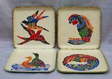 COFANETTO di 4 Sottobicchieri carta pressata mordicchiare piatti molto colorata Bird Designs