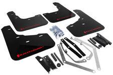 Rally Armor Urethane UR BLACK Mud Flaps w/ RED Logo 2014-2015 Ford Fiesta ST