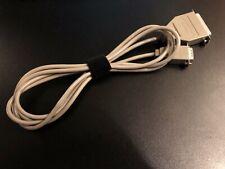 Super Vintage Apple Serial Cable DB9 to DB25 Macintosh 128K 512K 590-0199 6ft