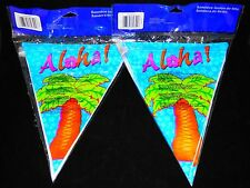 12Ft Hawaiian Aloha Summer Bbq Party Flag Banner Streamer Decoration - Qty. (2)