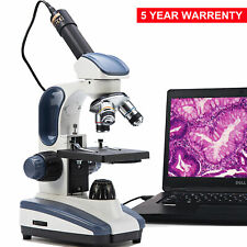 SWIFT Compound Microscope 40X-1000X Biology Science Student + Digital USB Camera