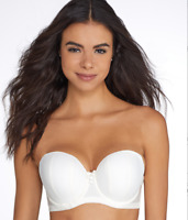 CURVY KATE IVORY LUXE STRAPLESS BRA, SIZE US 30FF, NWOT