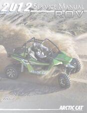 Arctic Cat 2012 ATV Wildcat repair shop service manual on CD