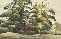 Arthur Mitson - Mid 20th Century Watercolour, Trees in Audley End Park