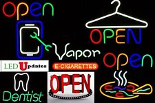 Led Sign Bright Business Neon Open Pizza Phone Repair Vapor Dry Cleaner Dentist
