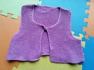 Baby Girl Knitted Bodywarmer Gilet 9-12 Months