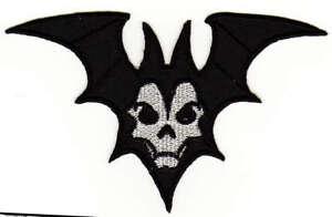 Ab61 Bat Vampire Halloween Sew-On Iron-On Application DIY 12 X 7,5 CM