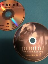 Resident Evil Dvds ( Damnation & Degeneration) (2 Discs No Box Art Included)