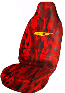 Mountain Bike GT Logo Waterproof Red Camo Premium Front Car Seat Cover Protector