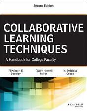 Collaborative Learning Techniques by Elizabeth F. Barkley Paperback Book (Englis