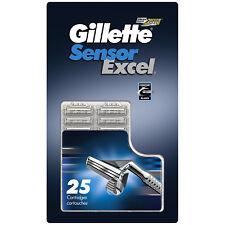 Gillette Sensor Excel Razor Blades - 25 Cartridges