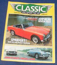 CLASSIC AND SPORTSCAR SEPTEMBER 1983 - AMPHICAR RIVER TEST/SPRIDGET!