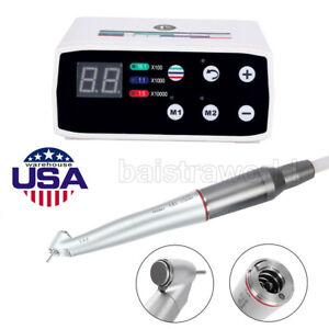 US Dental 45° Angle Fiber Optic 1:4.2 LED Handpiece/Electric LED Brushless Motor