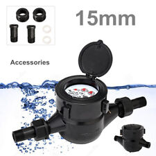 """1/2"""" 15mm Single Flow Cold Water Meter Flow Measure Table Counter Home"""