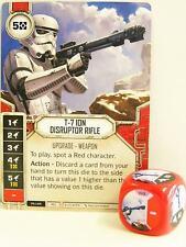 Star Wars Destiny - #007 T-7 Ion Disruptor Rifle + Dice - red - Empire at War
