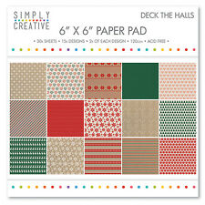 "Simplemente creatividad ""Deck the Halls 6"" X 6"" Cojín de papel FSC Completo Pad"