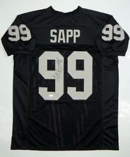 Warren Sapp Autographed Black Pro Style Jersey HOF- JSA Witness Auth *Vert HOF