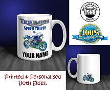 Triumph Speed Triple Moto Personalizado Taza De Cerámica De Regalo (mb007)