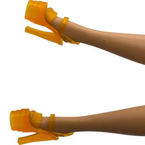 Barbie Shoes - Translucent Orange  Extreme Platform Stiletto Heel Dancer Shoes