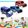 Child Toy Car LED Light Up Jeep Cars Glow in the Dark Racing Track Toys for Kids