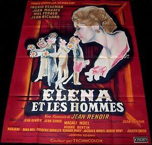 1956 Paris Does Strange Things ORIGINAL FRENCH POSTER Ingrid Bergman Jean Renoir