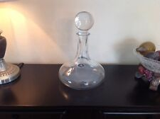 LENOX CLEAR CRYSTAL WINE DECANTER HOME BAR DECO DRINKING BAR KITCHEN Mariner