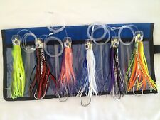 "6.5"" Rigged Marlin / Tuna Lure Trolling Kit 6pcs with Mesh Case"