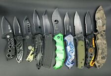 Lot of 10 Mixed Assisted Opening EDC Folding Knives