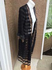 New $159 Rare! Chico's Black Elizabeth Ruffle Cardigan Sweater Sz 3 XL 16 18 NWT