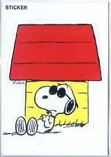 CP - Carte Postale - Snoopy - Sticker - Auto-collant