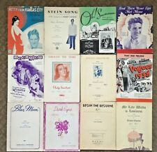 VINTAGE Sheet Music Lot of 12 Popular 30's: Foster, Cole Porter, Vallee, etc.