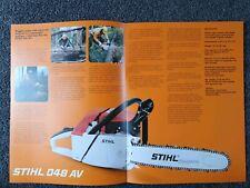 Stihl 048Av chainsaw advertising brochure. New old stock