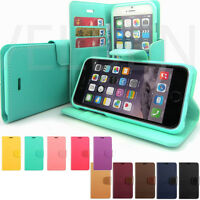 For iPhone XR XS 8 7 6 5 Wallet Case stand card Synthetic Leather flip -Goospery