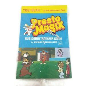 Vintage 1981 Presto Magix Rub Down Transfer Game Yogi Bear at the Amusement Park