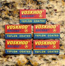 5 Voskhod Teflon Coated Double Edge Razor Blades
