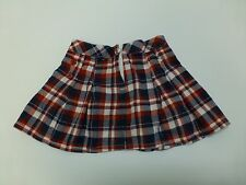 Gymboree Skirt Girls Size 5 Red & Blue Flannel Adjustable Waist Great Condition
