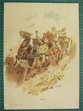 "1900 BOER WAR ERA MILITARY PRINT ""DISASTER"" BATTLEFIELD CAVALRY ~ JOHN CHARLTON"