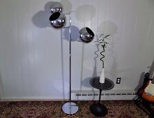 Koch & Lowy OMI chrome floor lamp 3 eye ball shades Sonneman Eames Atomic era
