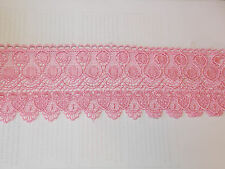 11cm light pink embroidered guipure lace bridal wedding dress prom trim veil net