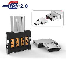 Micro USB Typ B mini OTG Adapter Stecker auf USB Buchse Typ A 2.0 für Android