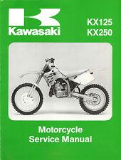 Kawasaki Motorcycle KX 125 & KX 250, 1992 1993 Service Manual, Free SHIPPING