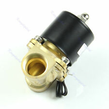 "HOT! Brass 12V DC 1/2"" Electric Solenoid Valve Water Air Fuels Gas Normal Closed"