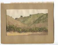 VINTAGE 1930's SAGEBRUSH MOUNTAINS JOHNSON'S PASTURE CA GEOLOGIST W/C  PAINTING
