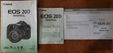Canon Eos Digital 20D Camera Instruction Book / Manual / User Guide