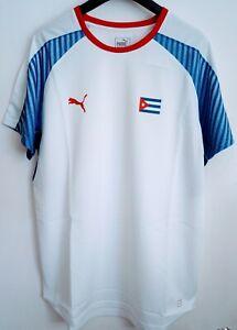 """Cuba National Team Puma Away Football / Handball Shirt, Adults 46-48"""" chest, XXL"""