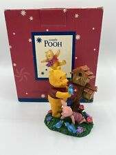 Disney Simply Pooh Birdhouse Figurine Winnie The Pooh Character Figure New